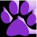 Purple Pawprint Icon